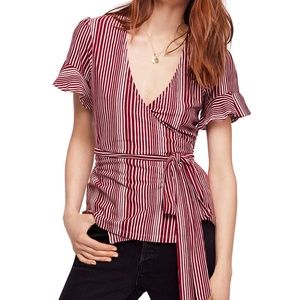 """Free People Wrapped Around My Finger Wrap Top """"S"""""""
